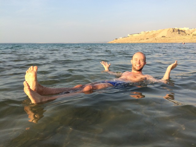 Floating in Jordan