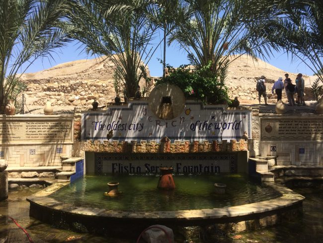 The Fountain at Jericho where Moses turned salt water into fresh water.